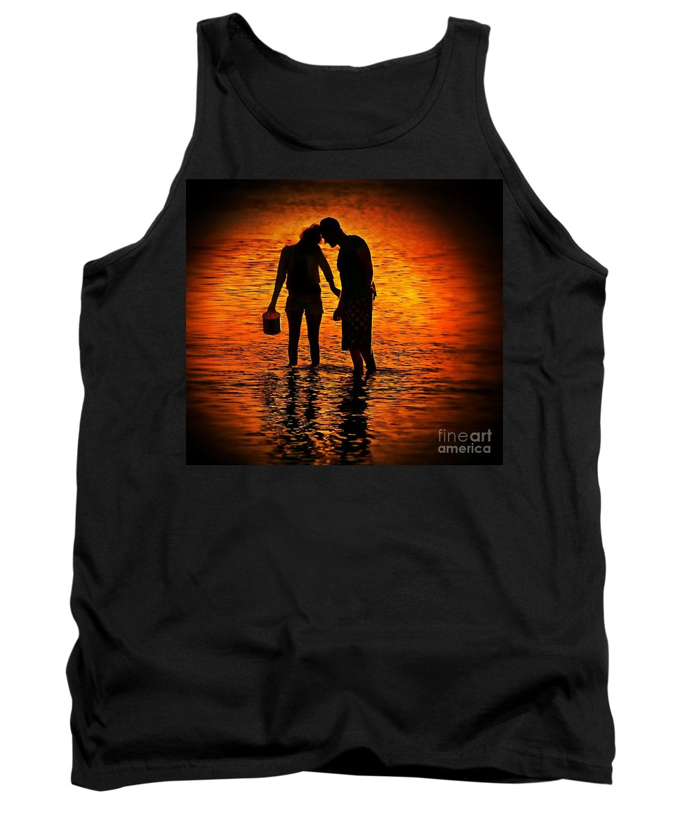 Sunset Tank Top featuring the photograph Sunset Whisper by Ben Yassa