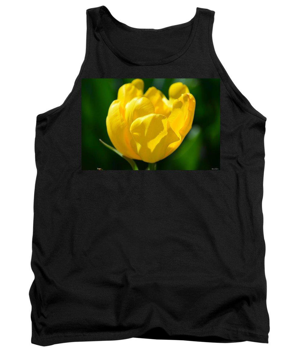 Sunshine Tulip Tank Top featuring the photograph Sunshine Tulip by Maria Urso