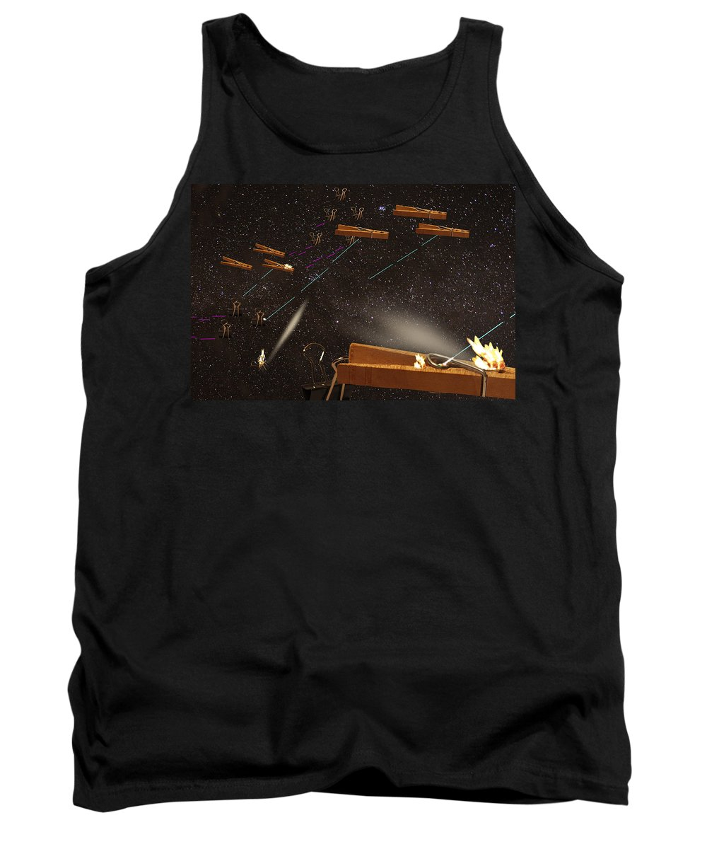 Montages Tank Top featuring the photograph Supply Wars by Greg Wells