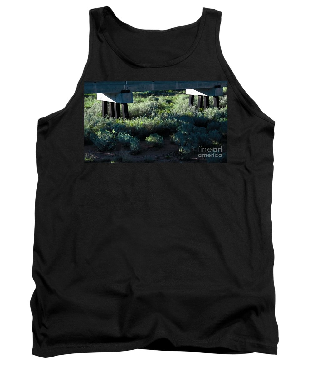 Digital Color Photo Tank Top featuring the digital art Supported by Tim Richards