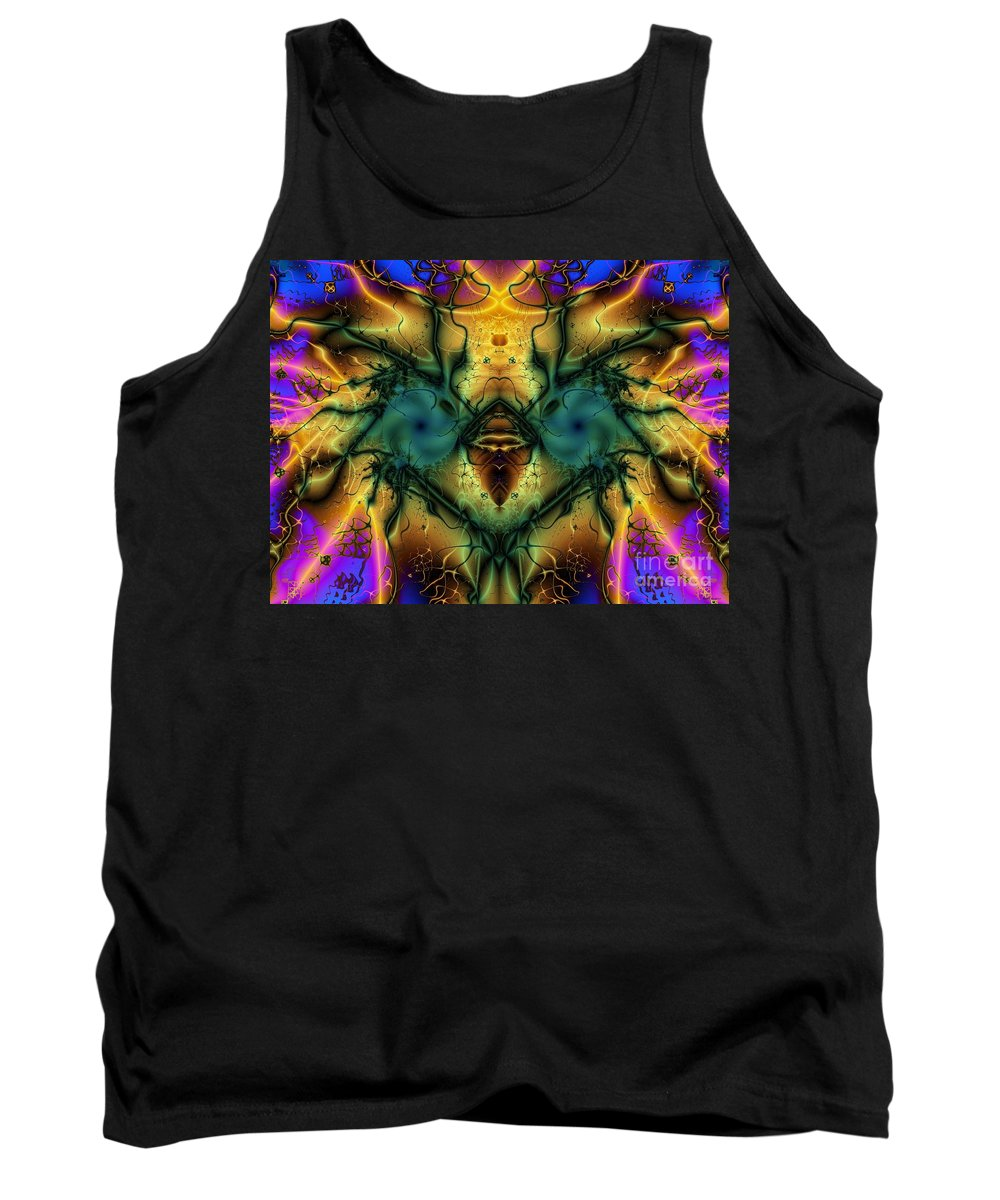 Suprised Ostrich Tank Top featuring the digital art Suprised Ostrich by Elizabeth McTaggart