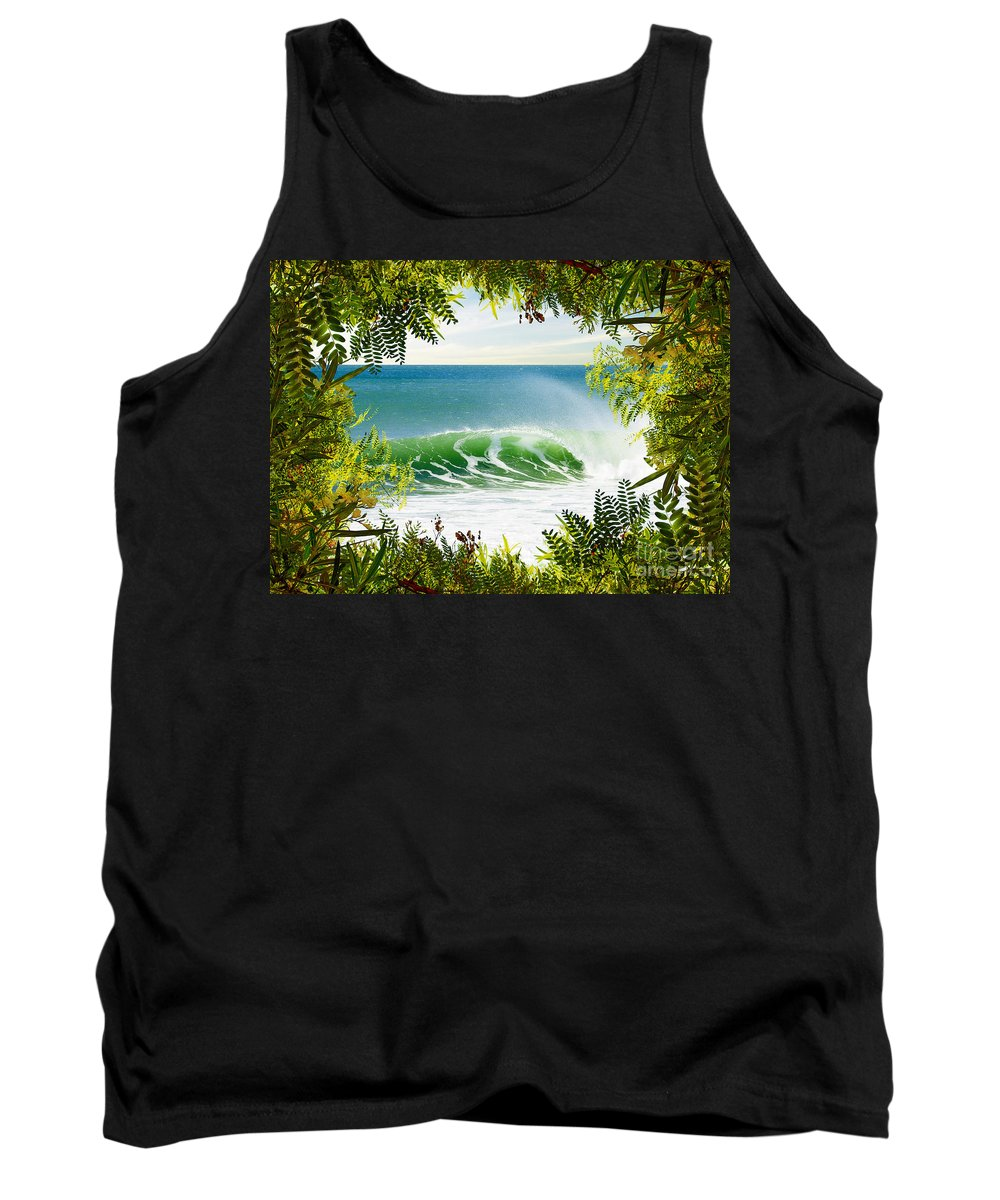 Background Tank Top featuring the photograph Surfing Paradise by Carlos Caetano