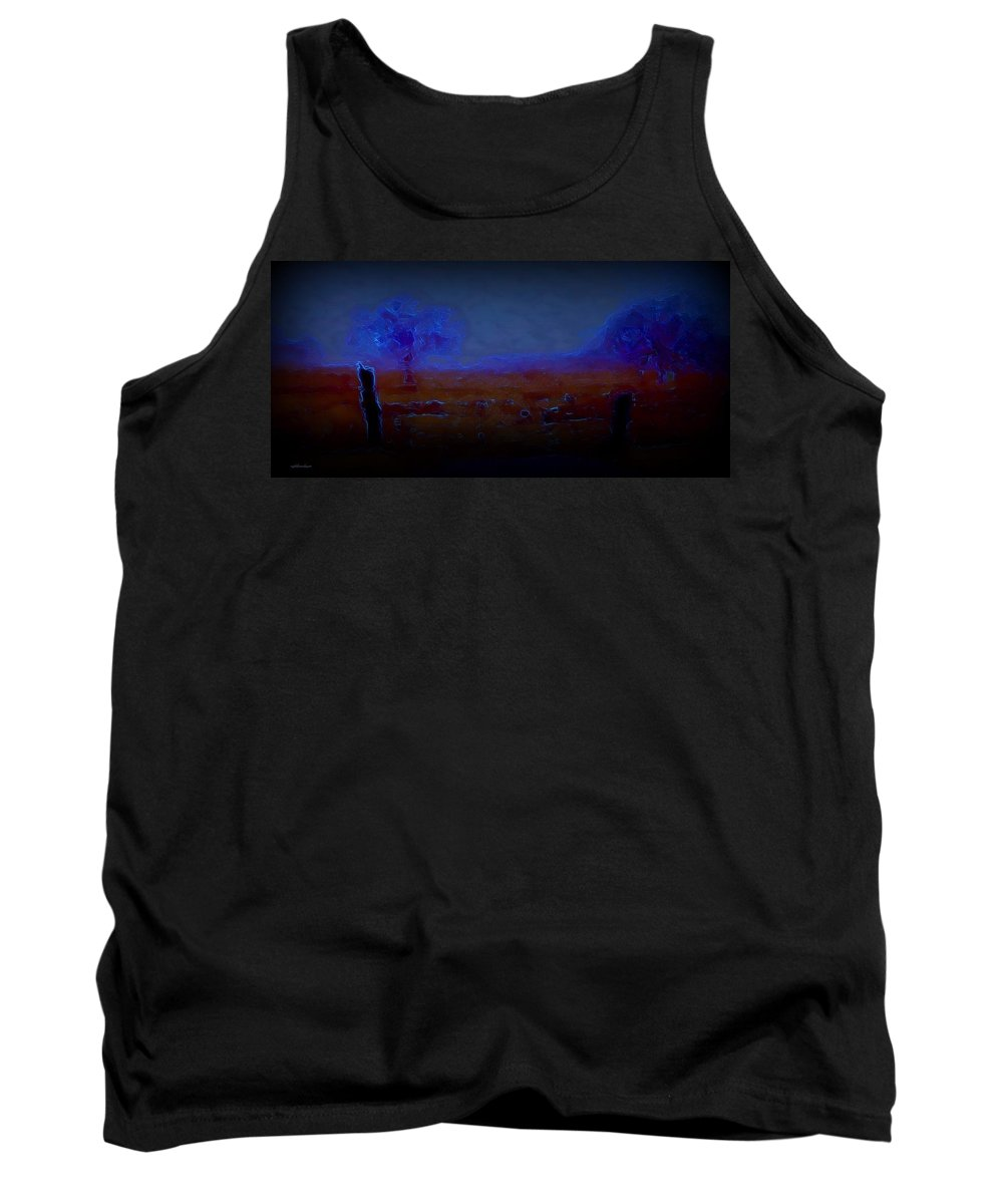 Rightfromtheart Tank Top featuring the photograph Surreal Pasture by Bob and Kathy Frank