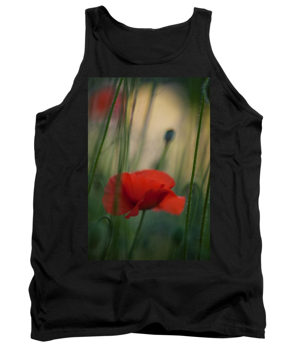 Flower Tank Top featuring the photograph Surrealistic Red by Mike Reid