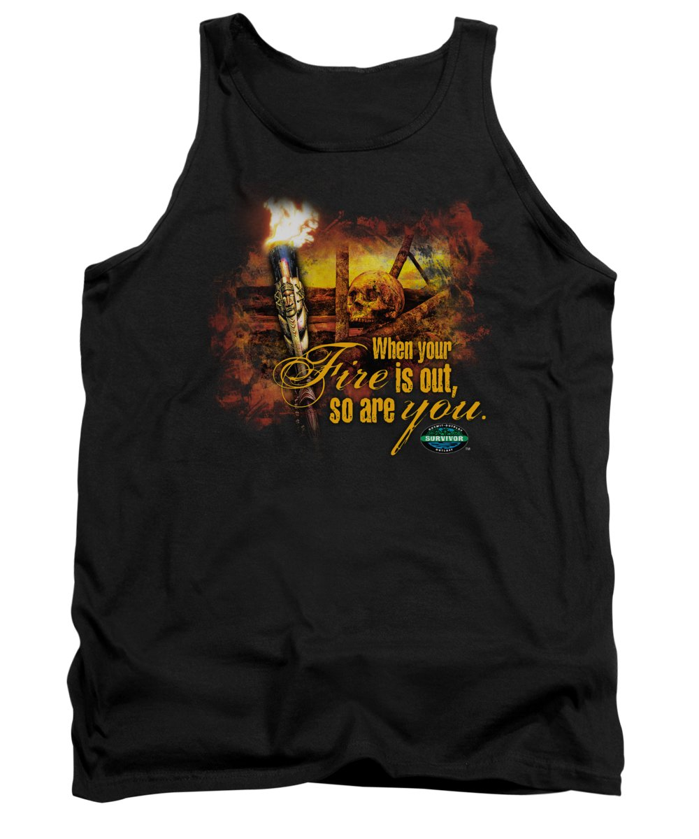 Survivor Tank Top featuring the digital art Survivor - Fires Out by Brand A
