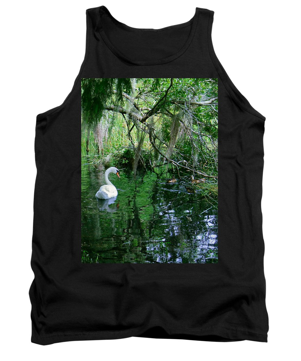 Swan Tank Top featuring the photograph Swan Lake by Denise Mazzocco