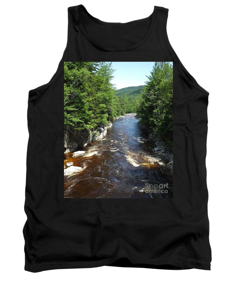 River Tank Top featuring the photograph Swift River Below Rocky Gorge New Hampshire White Mountains by Lizi Beard-Ward