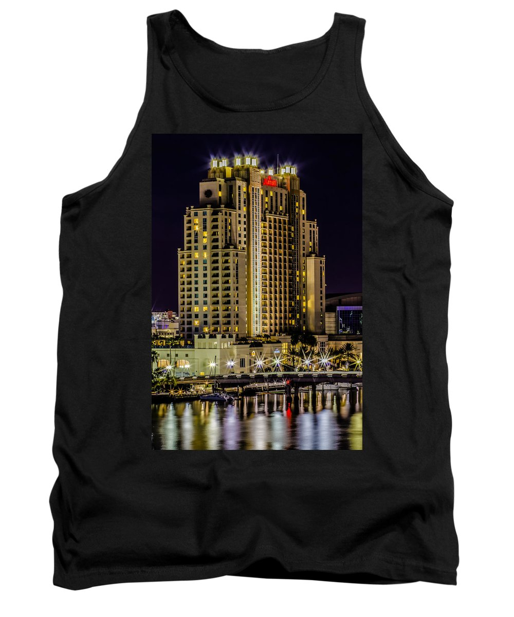 Downtown Tank Top featuring the photograph Tampa Marriott Waterside Hotel And Marina by Stephen Brown