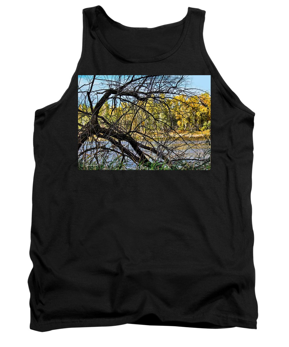 River Tank Top featuring the photograph Tangled by Sylvia Thornton