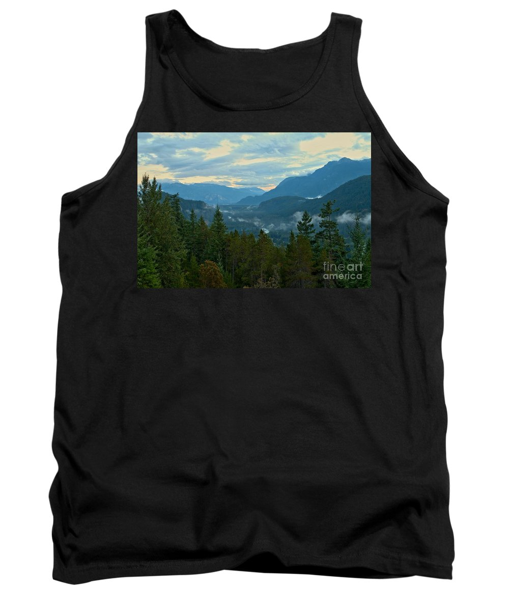 Tantalus Tank Top featuring the photograph Tantalus Mountain Afternoon Landscape by Adam Jewell