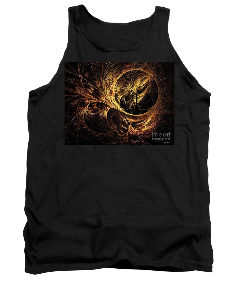 Tapestry Tank Top featuring the digital art Tapestry by Elizabeth McTaggart