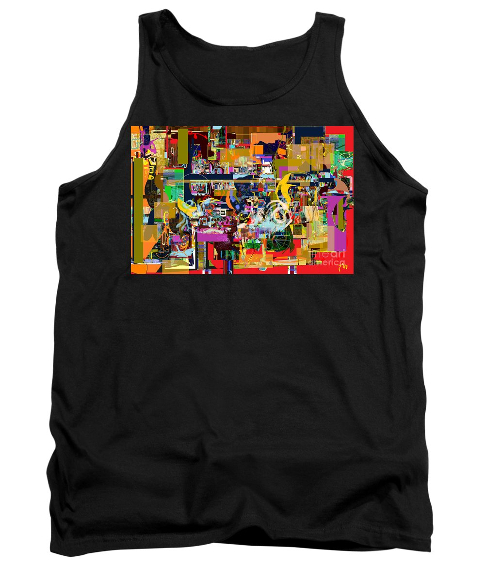 Tank Top featuring the digital art Tefilla Without Cavona 2c by David Baruch Wolk