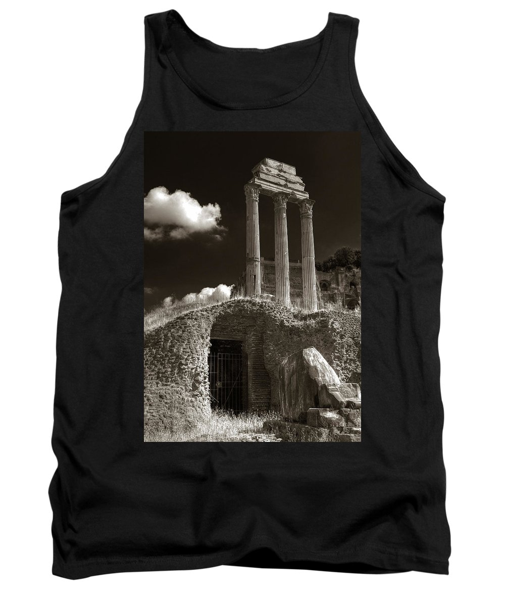 Rome Tank Top featuring the photograph Temple Of Castor And Polux by Michael Kirk