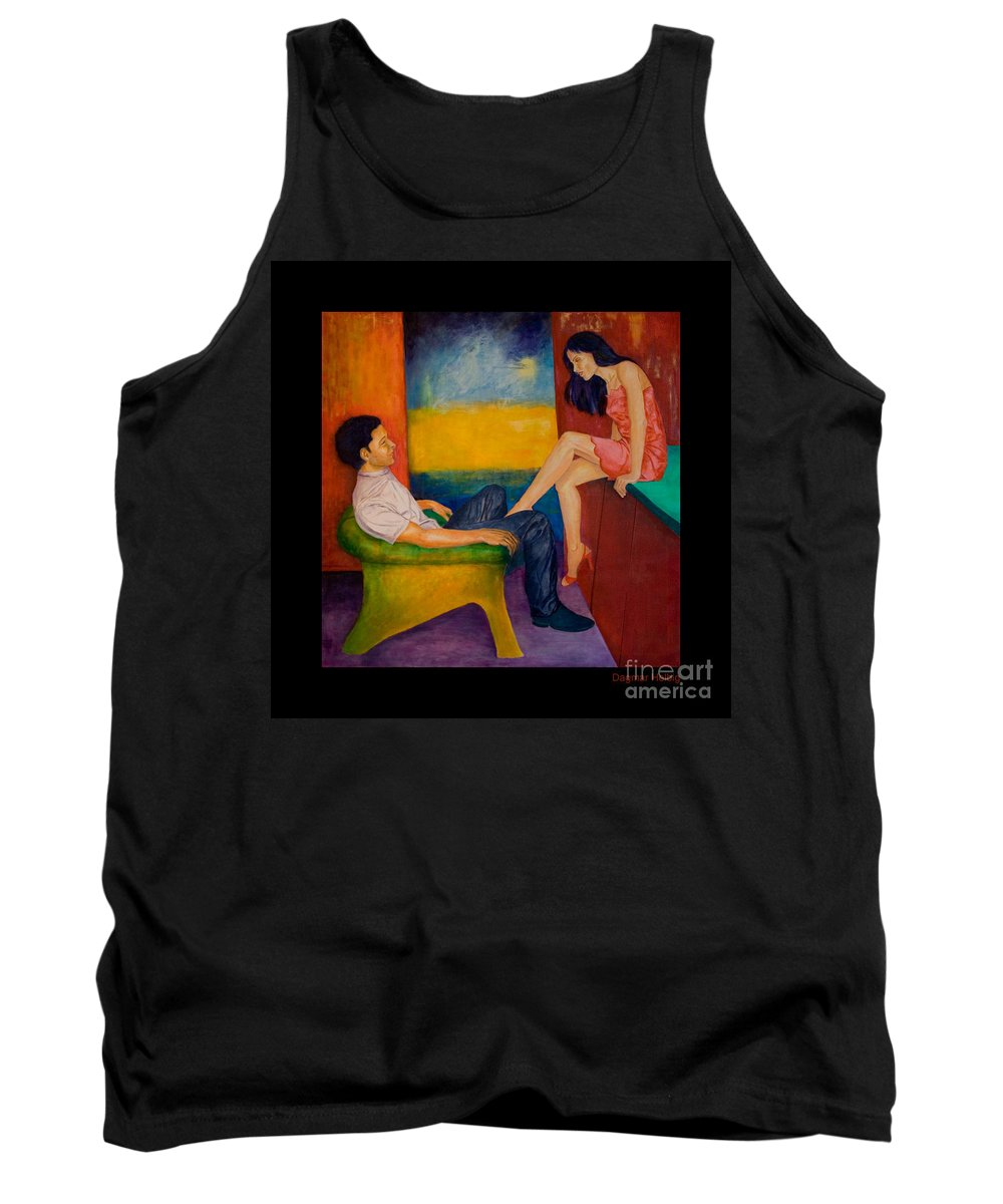 Human-picture-original Tank Top featuring the painting Temptation by Dagmar Helbig