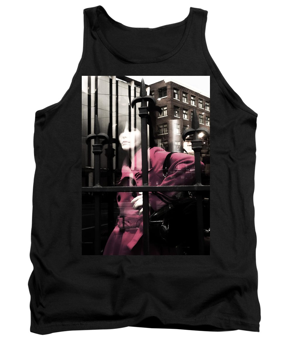 Abstract Tank Top featuring the photograph Tended To The Bar by The Artist Project