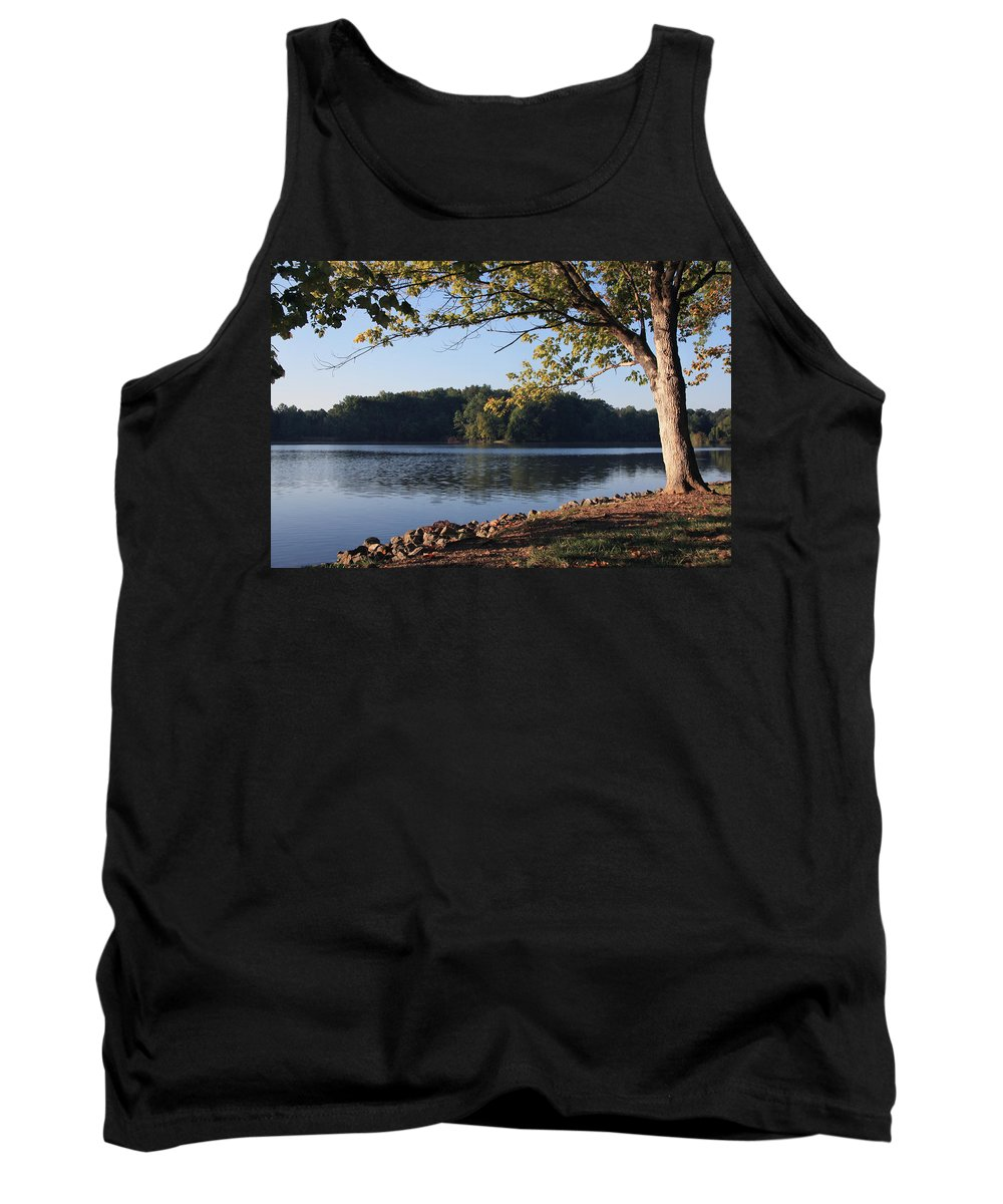 Tennessee River Tank Top featuring the photograph Tennessee River In Knoxville by Melinda Fawver