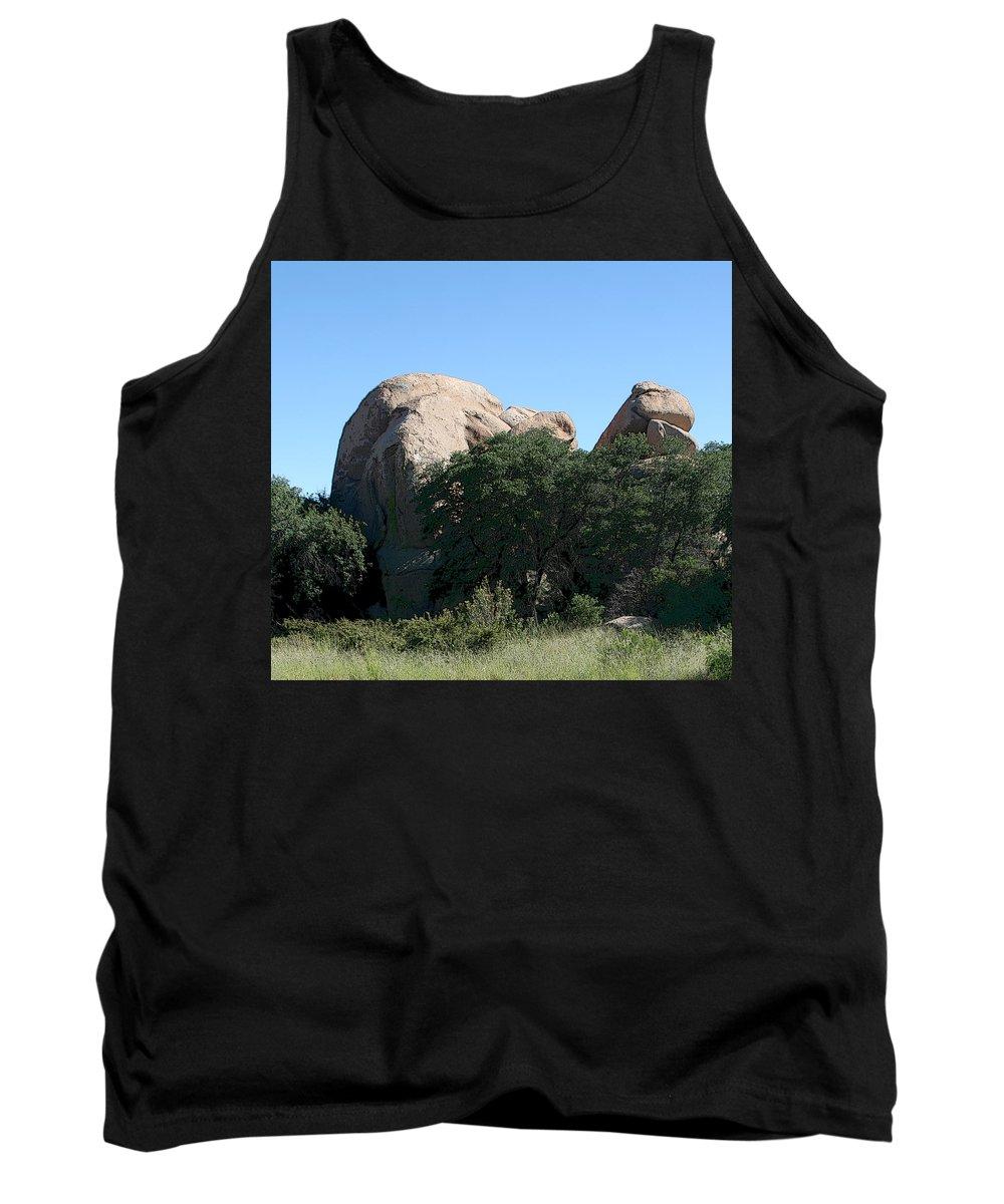 Texas Canyon Tank Top featuring the photograph Texas Canyon Megaliths by Joe Kozlowski
