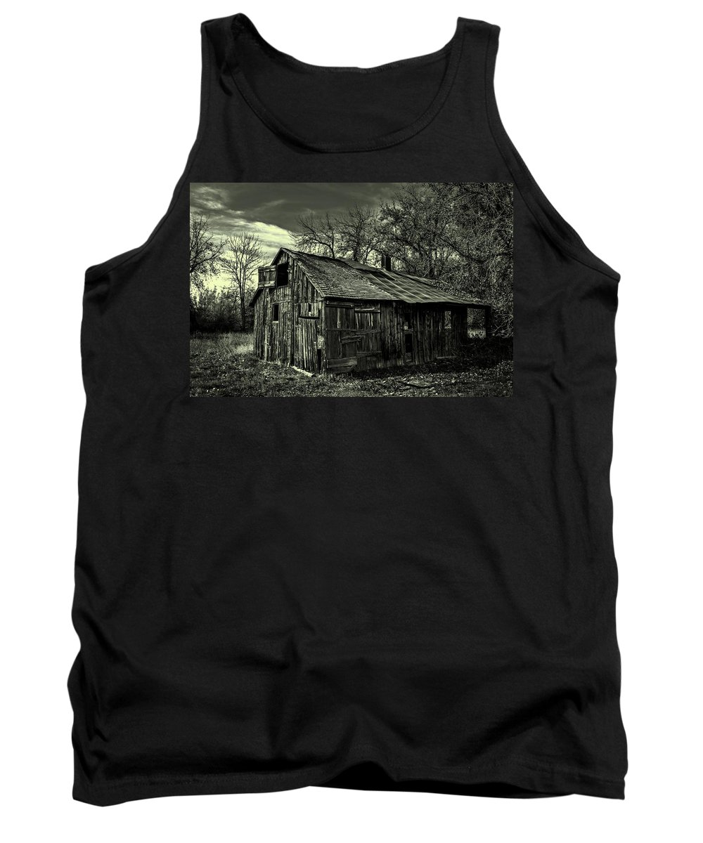 Barn Tank Top featuring the photograph The Adirondack Mountain Region Barn by Movie Poster Prints