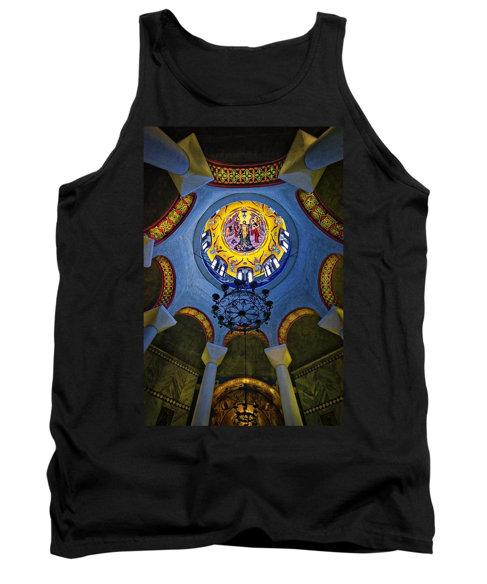 Philippi Tank Top featuring the photograph The Baptistery Of Lydia by Meirion Matthias