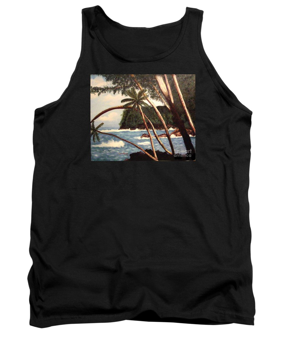 Hawaii Tank Top featuring the painting The Big Island by Laurie Morgan