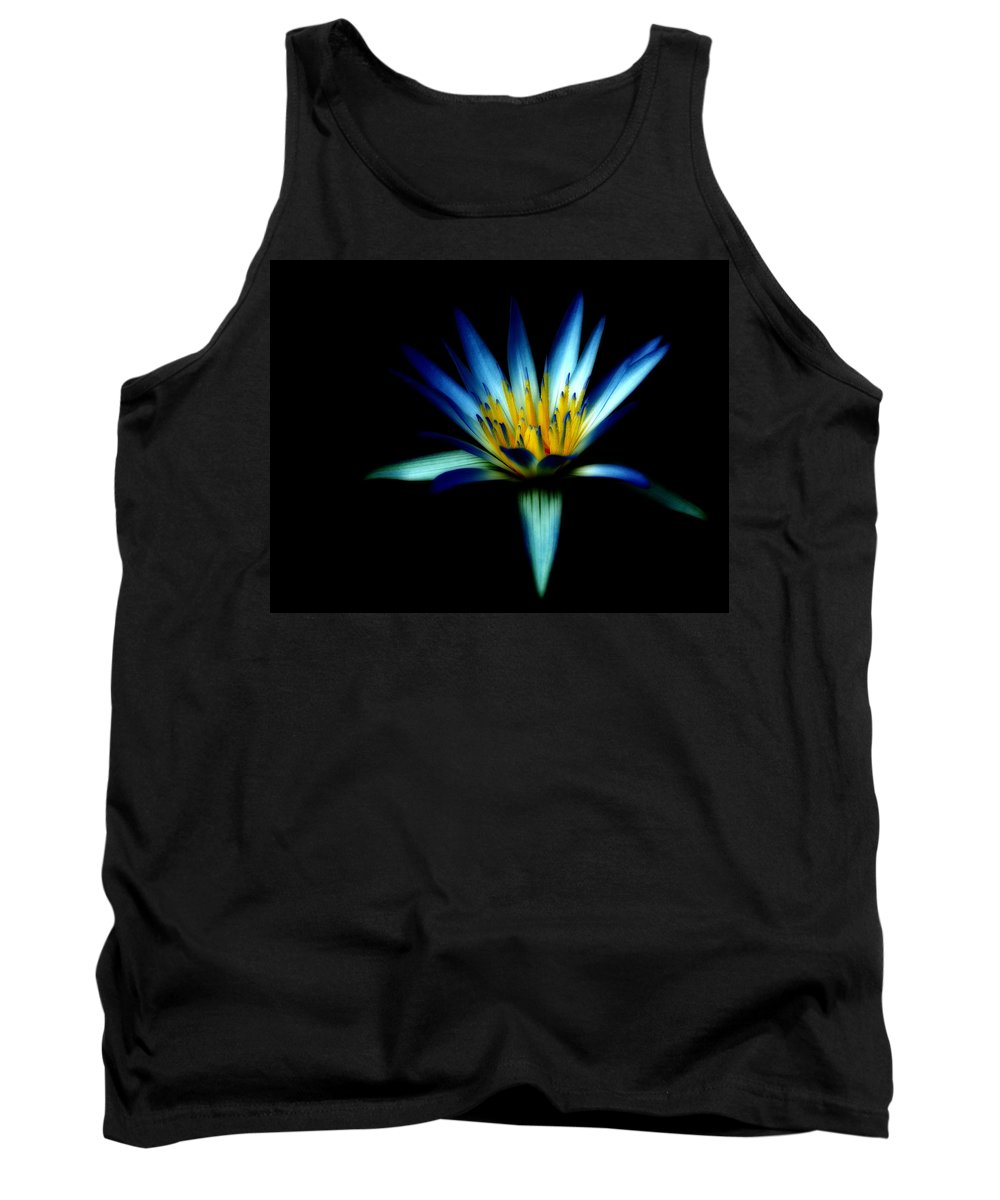 Blue Tank Top featuring the photograph The Blue Lotus Of Egypt by Wayne Sherriff