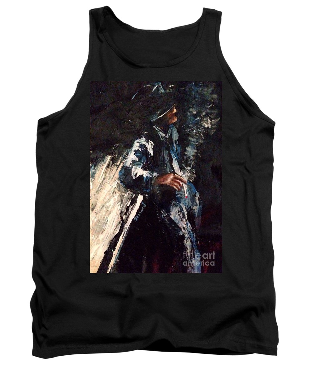 Jazz Tank Top featuring the painting The Blues by Karen Ferrand Carroll