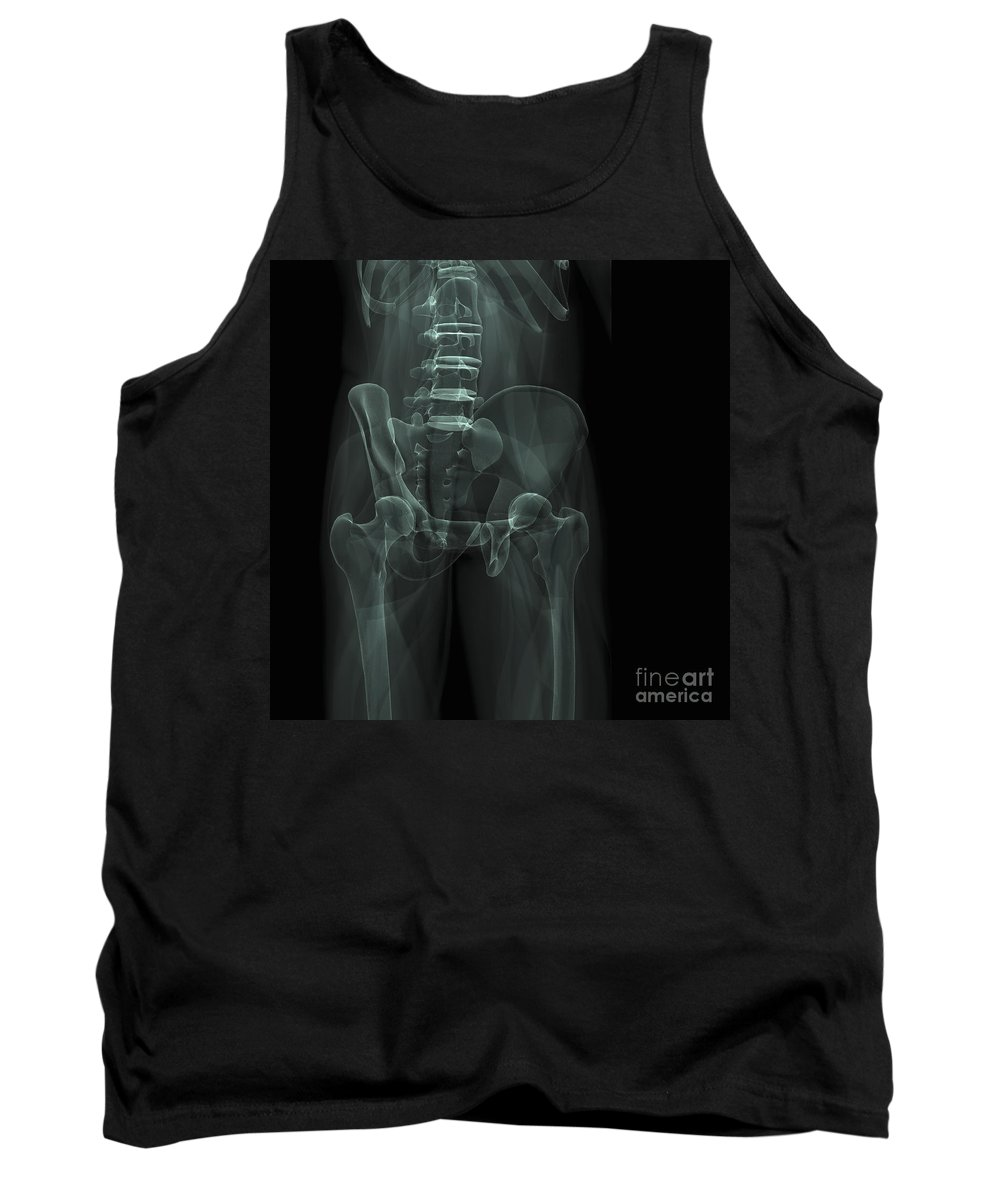 3d Visualisation Tank Top featuring the photograph The Bones Of The Pelvis by Science Picture Co