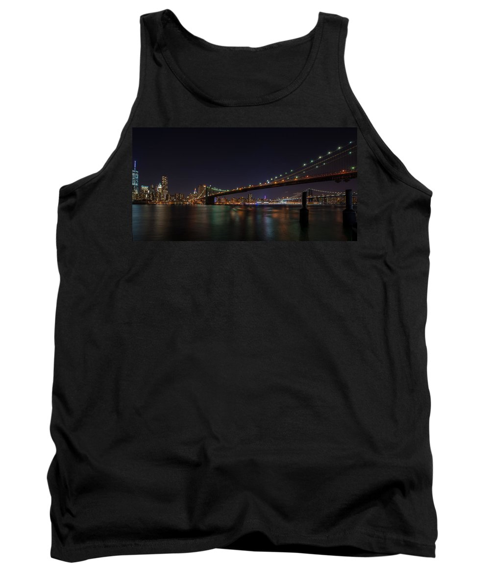 New York Tank Top featuring the photograph The Bridges Of New York by James Gamble