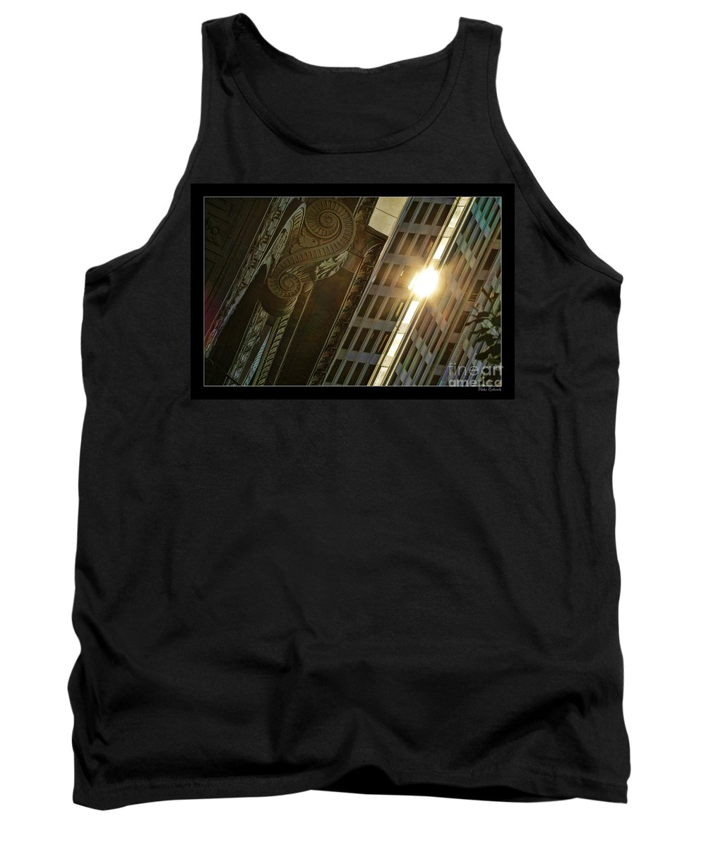 Tank Top featuring the photograph The Building Twightlight by Blake Richards