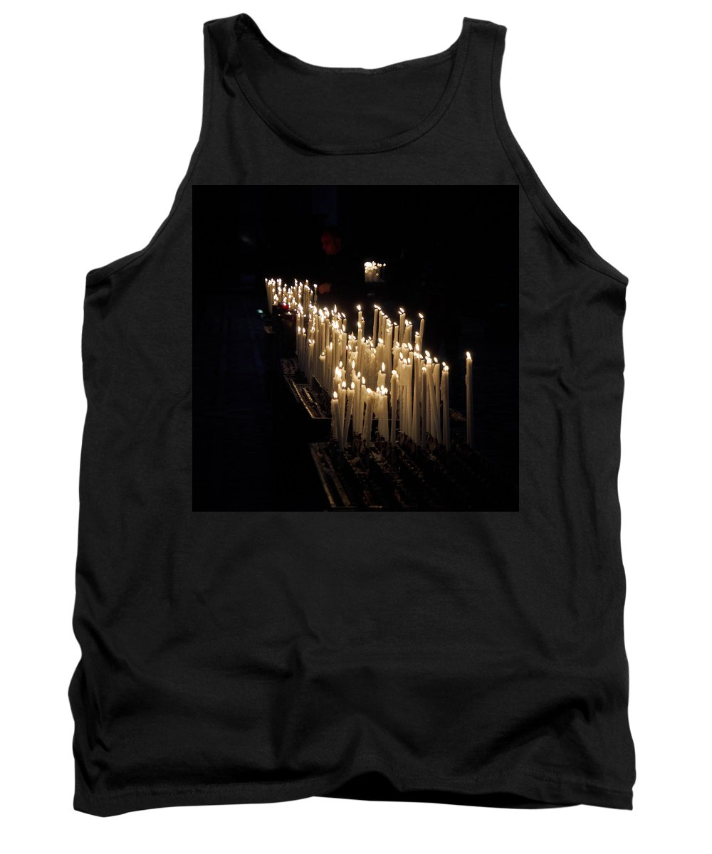 Francacorta Tank Top featuring the photograph The Candles. Duomo. Milan by Jouko Lehto