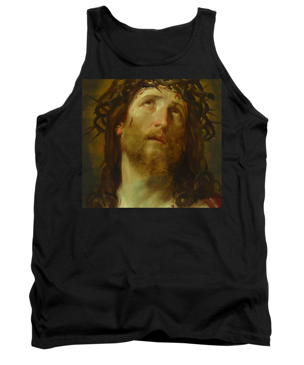 Retouched Tank Top featuring the digital art The Chosen One - The Son Of God Who Died On The Cross For Your Sins by Don Kuing
