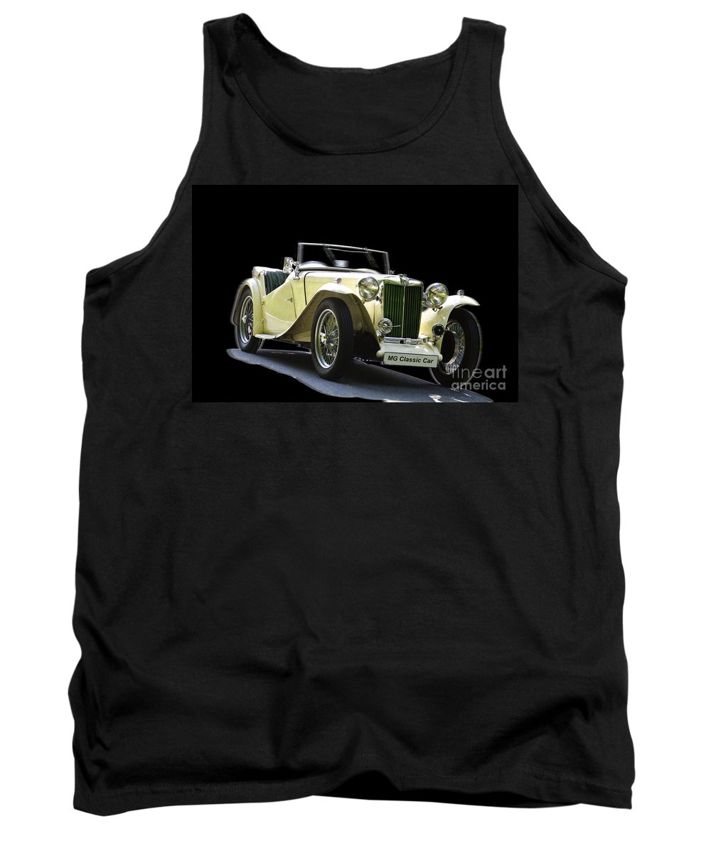 Heiko Tank Top featuring the photograph The Classic Mg by Heiko Koehrer-Wagner