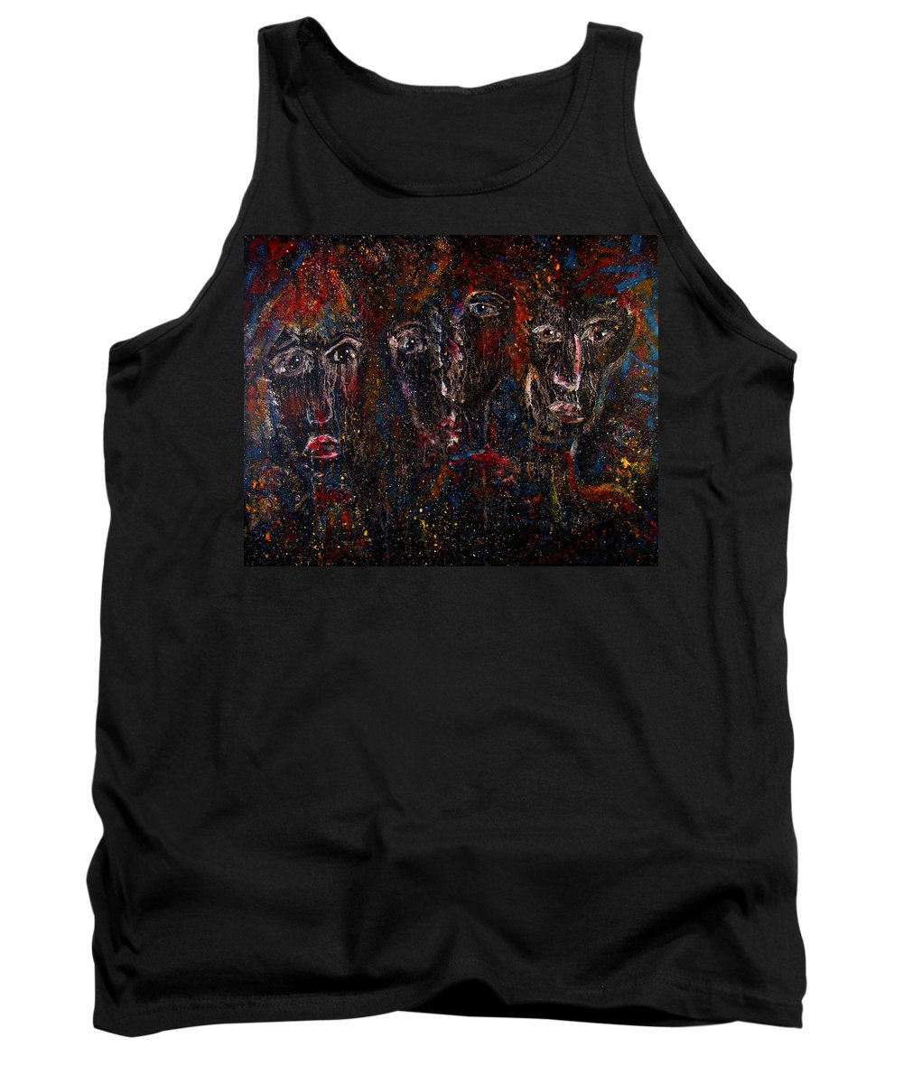 Expressionism Tank Top featuring the painting The Committee by Natalie Holland