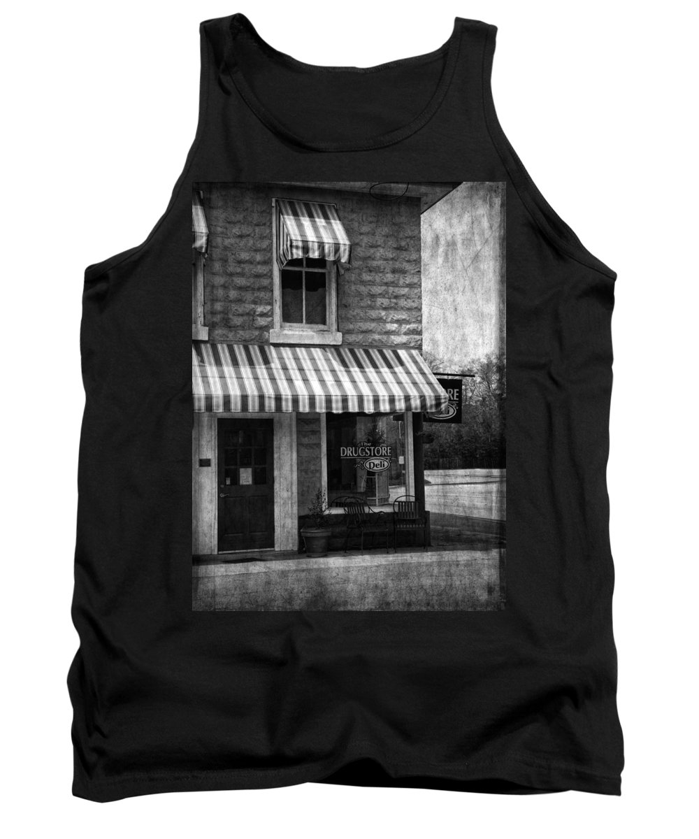Building Tank Top featuring the photograph The Corner Deli by Kim Hojnacki