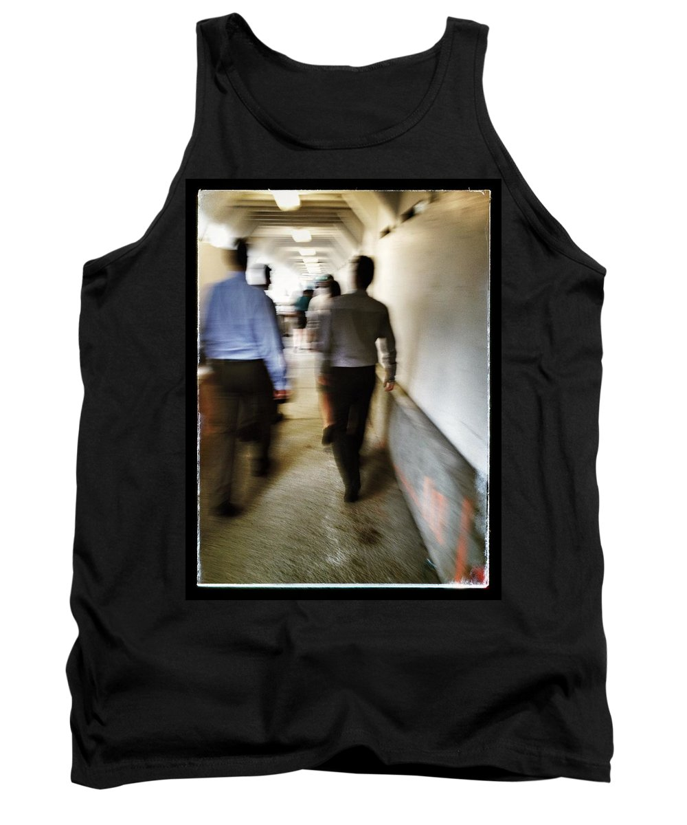 Street Tank Top featuring the photograph The Corrosion Of Corporate  by The Artist Project