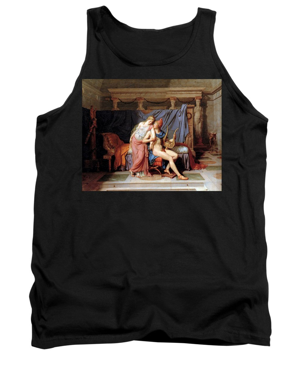 Jacques Louis David Tank Top featuring the digital art The Courtship Of Paris And Helen by Jacques Louis David