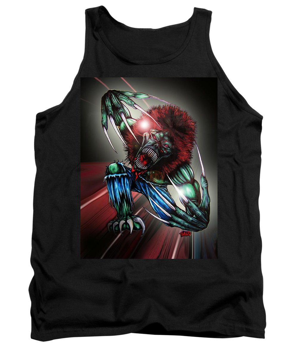 The Creeper Tank Top featuring the digital art The Creeper by Michael TMAD Finney and Ben Van Rooyen