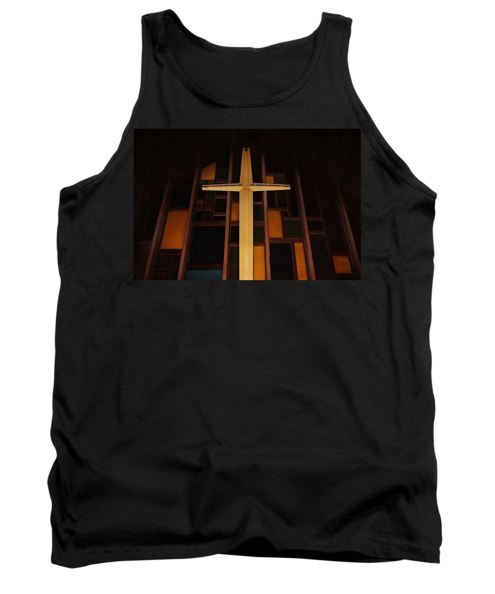 Spiritual Tank Top featuring the photograph The Cross by Jayne Gohr