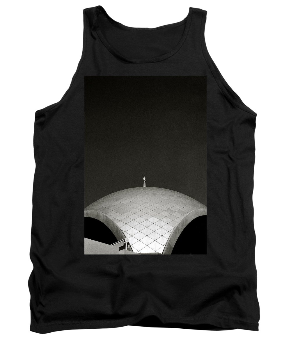 Inspiration Tank Top featuring the photograph The Curving Roof by Shaun Higson
