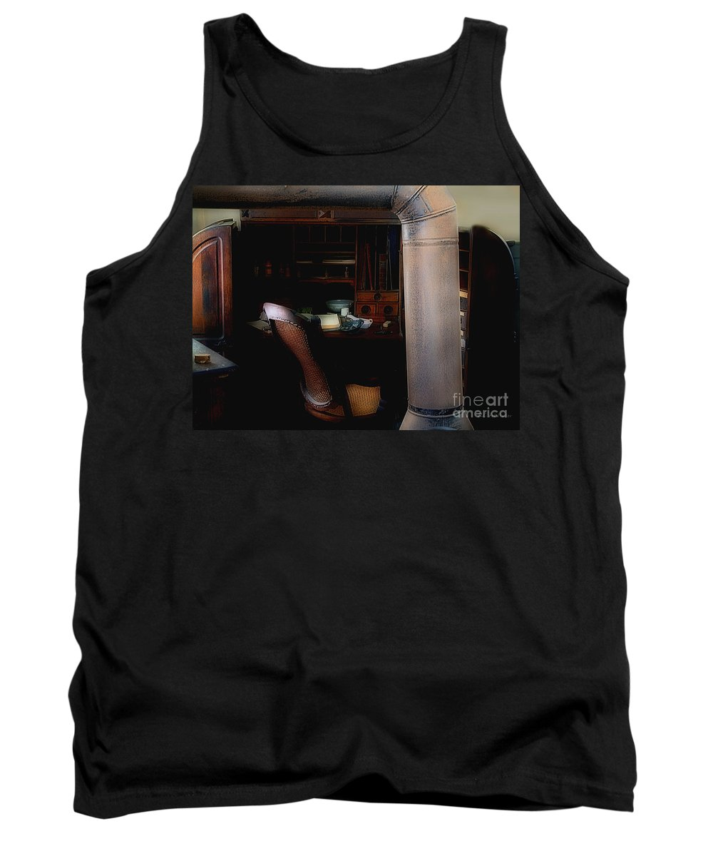 Antiques Tank Top featuring the painting The Doctor Is Out by RC DeWinter