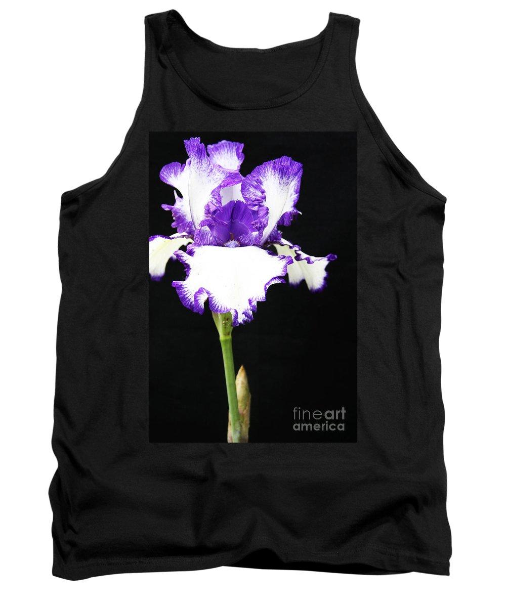 Iris Tank Top featuring the photograph The Edge Of Purple by Christina Gupfinger