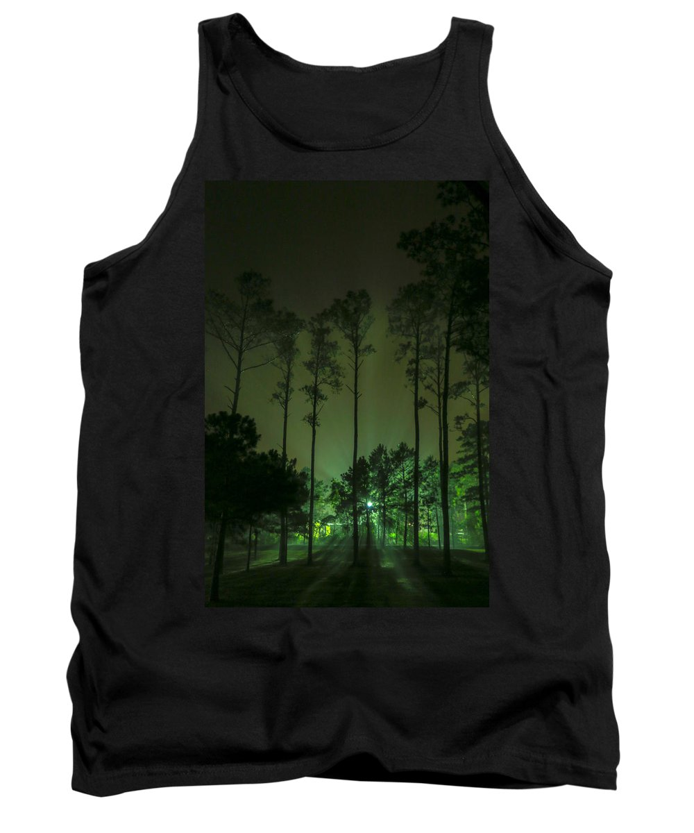 Pines Tank Top featuring the photograph The Emerald Forest by Paula OMalley