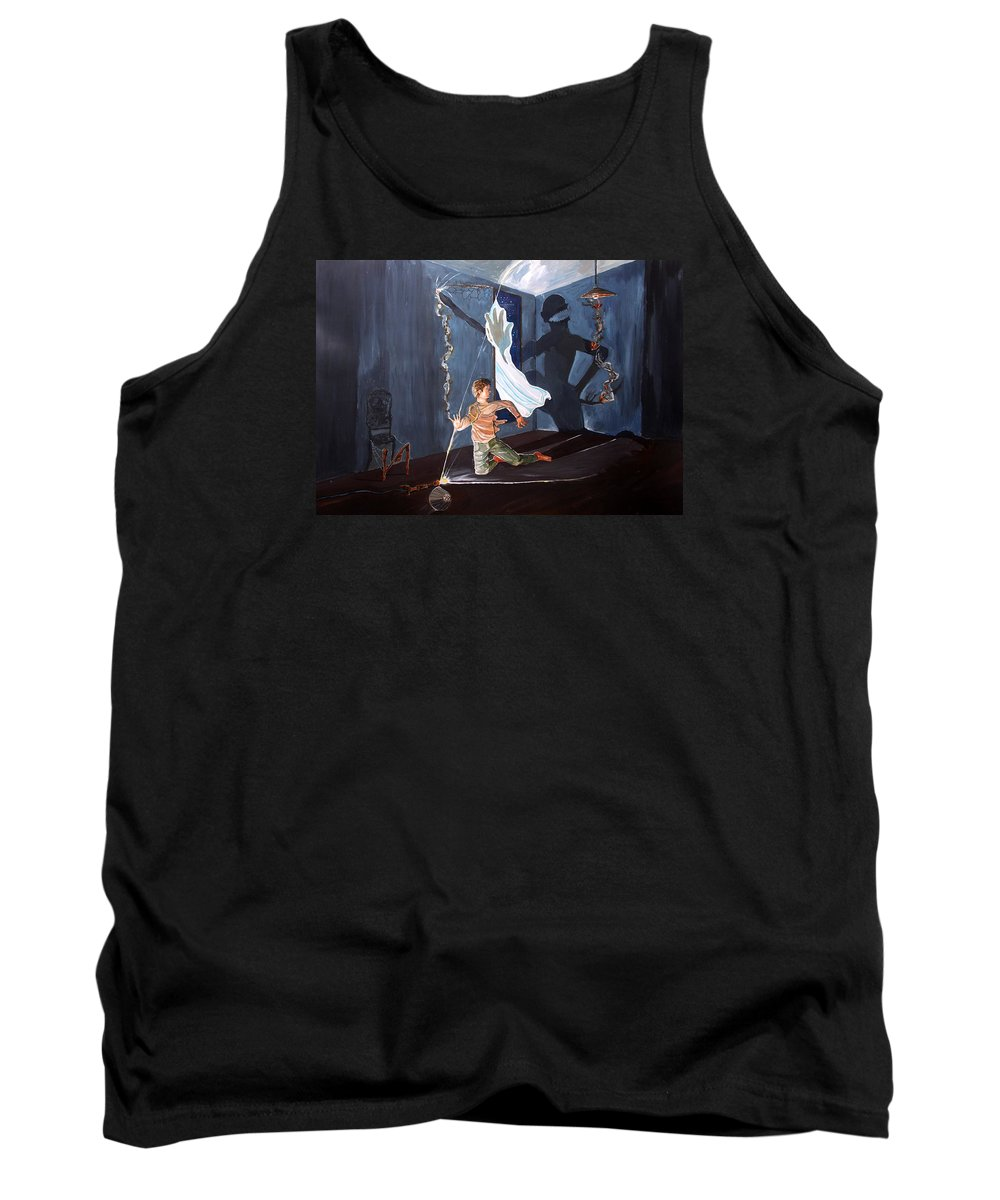 Surreal Tank Top featuring the painting The Entity Of Fear by Lazaro Hurtado