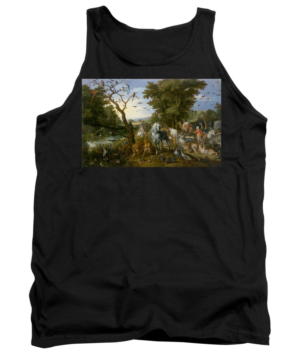 Jan Brueghel Tank Top featuring the painting The Entry Of The Animals Into Noahs Ark by Jan Brueghel the Elder