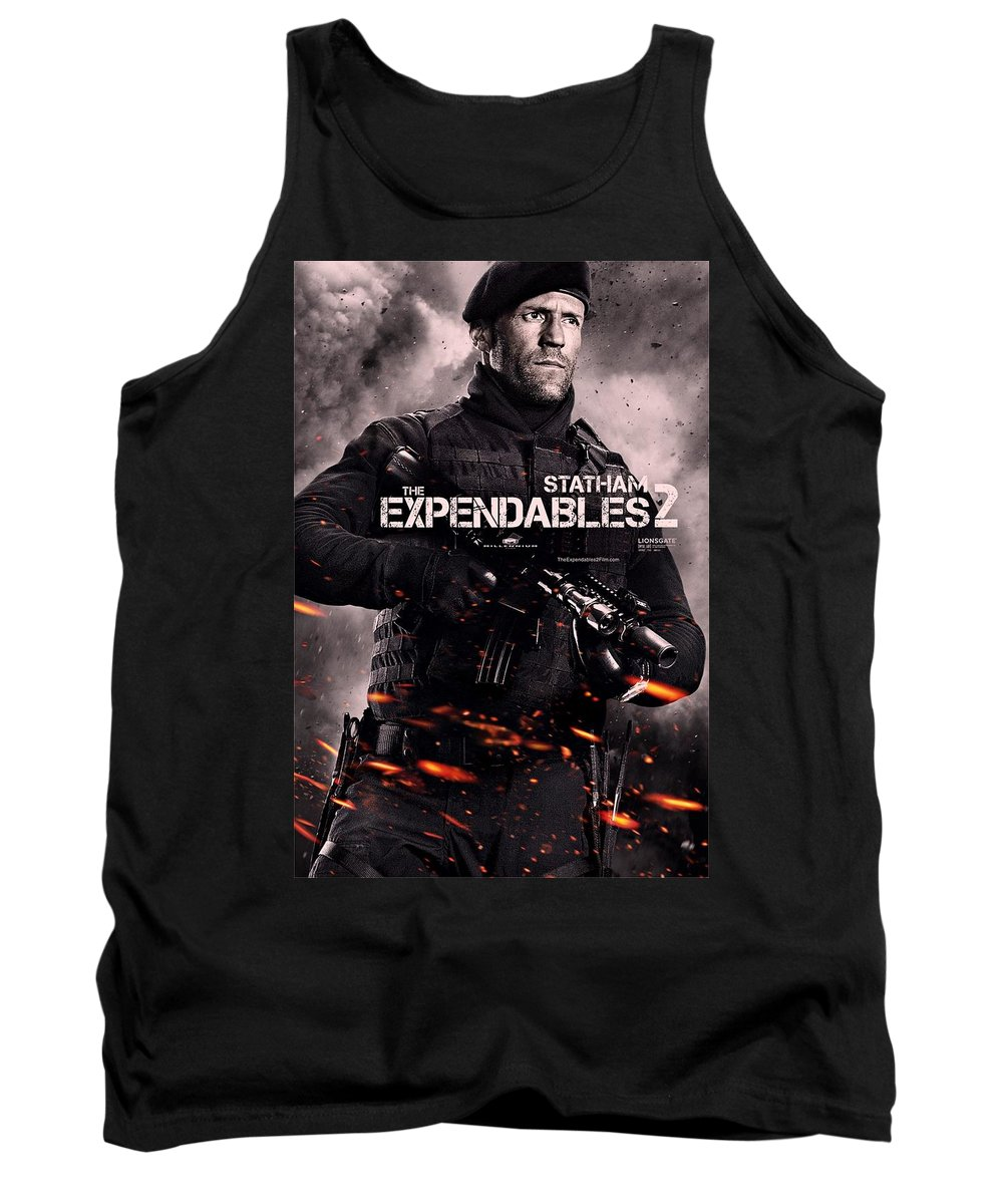 The Expendables 2 Tank Top featuring the photograph The Expendables 2 Statham by Movie Poster Prints
