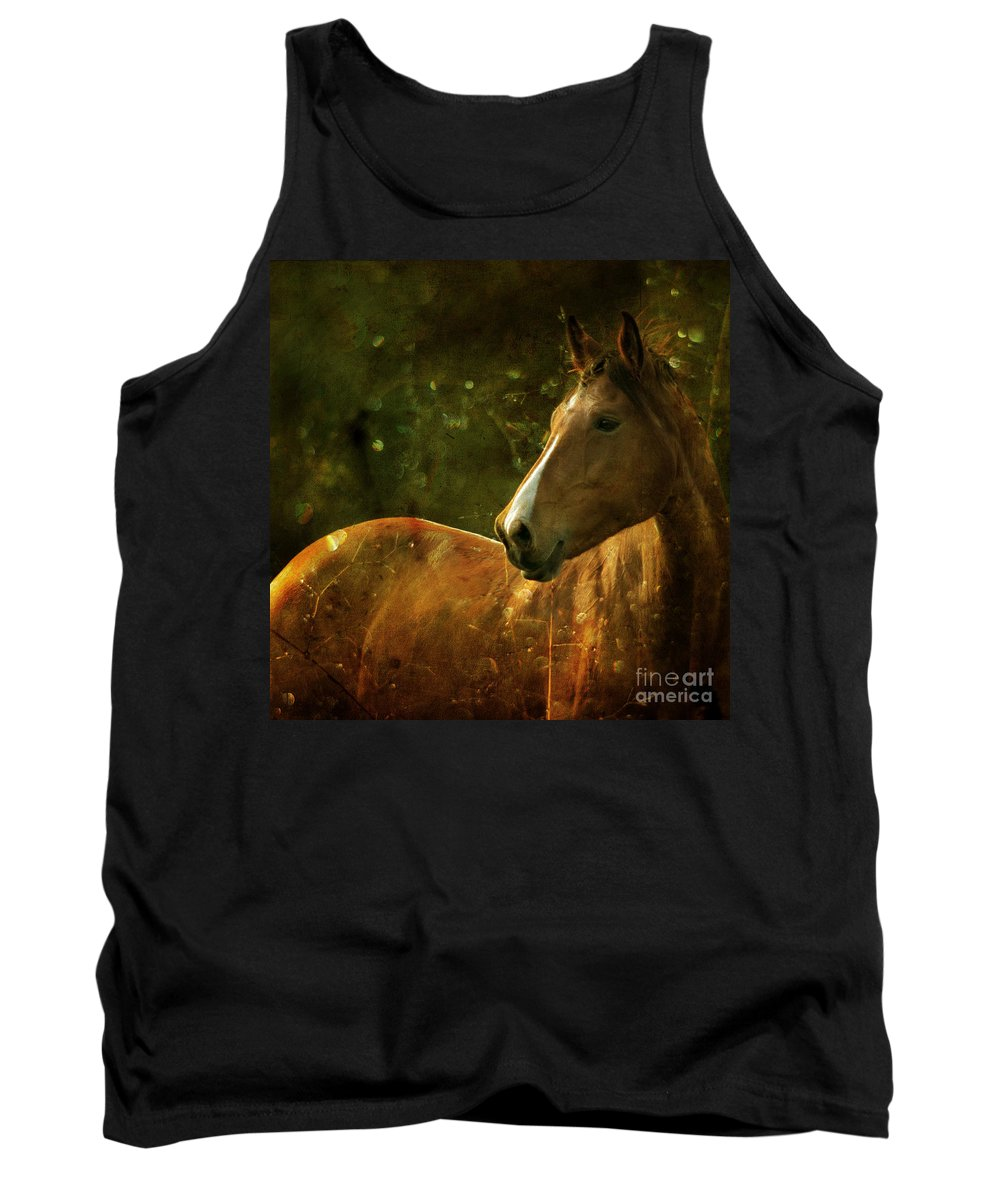Horse Tank Top featuring the photograph The Fairytale Horse by Angel Ciesniarska
