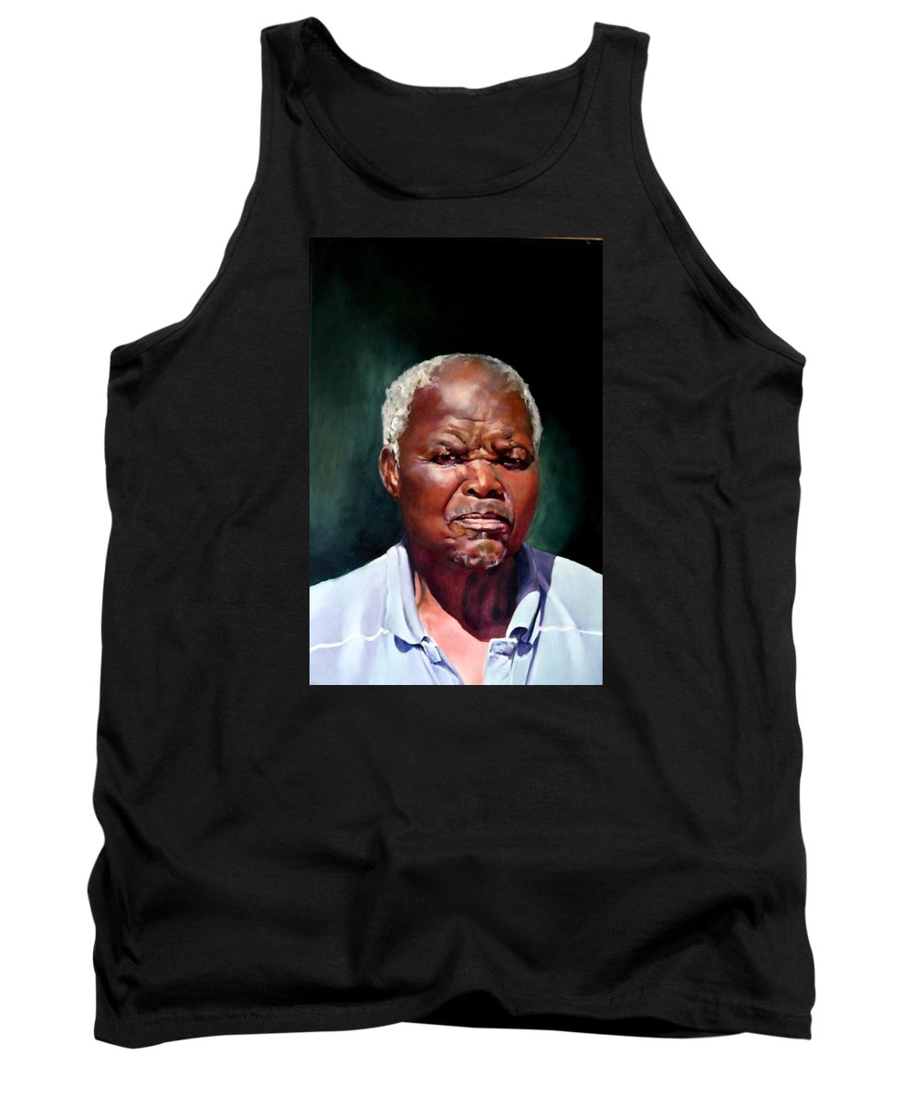 Portrait Tank Top featuring the painting The Family Head Petrus by Jolante Hesse