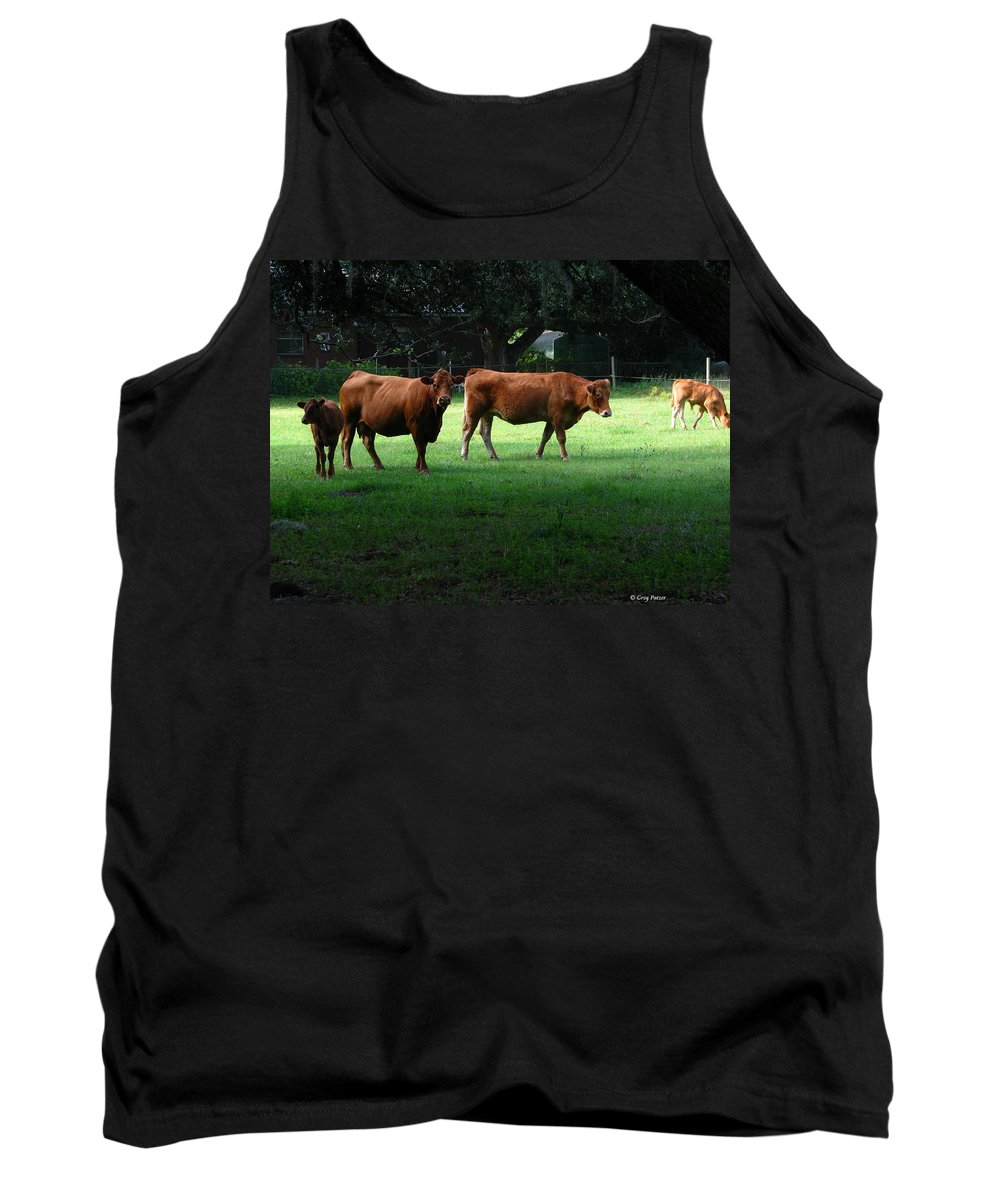 Patzer Tank Top featuring the photograph The Farm by Greg Patzer
