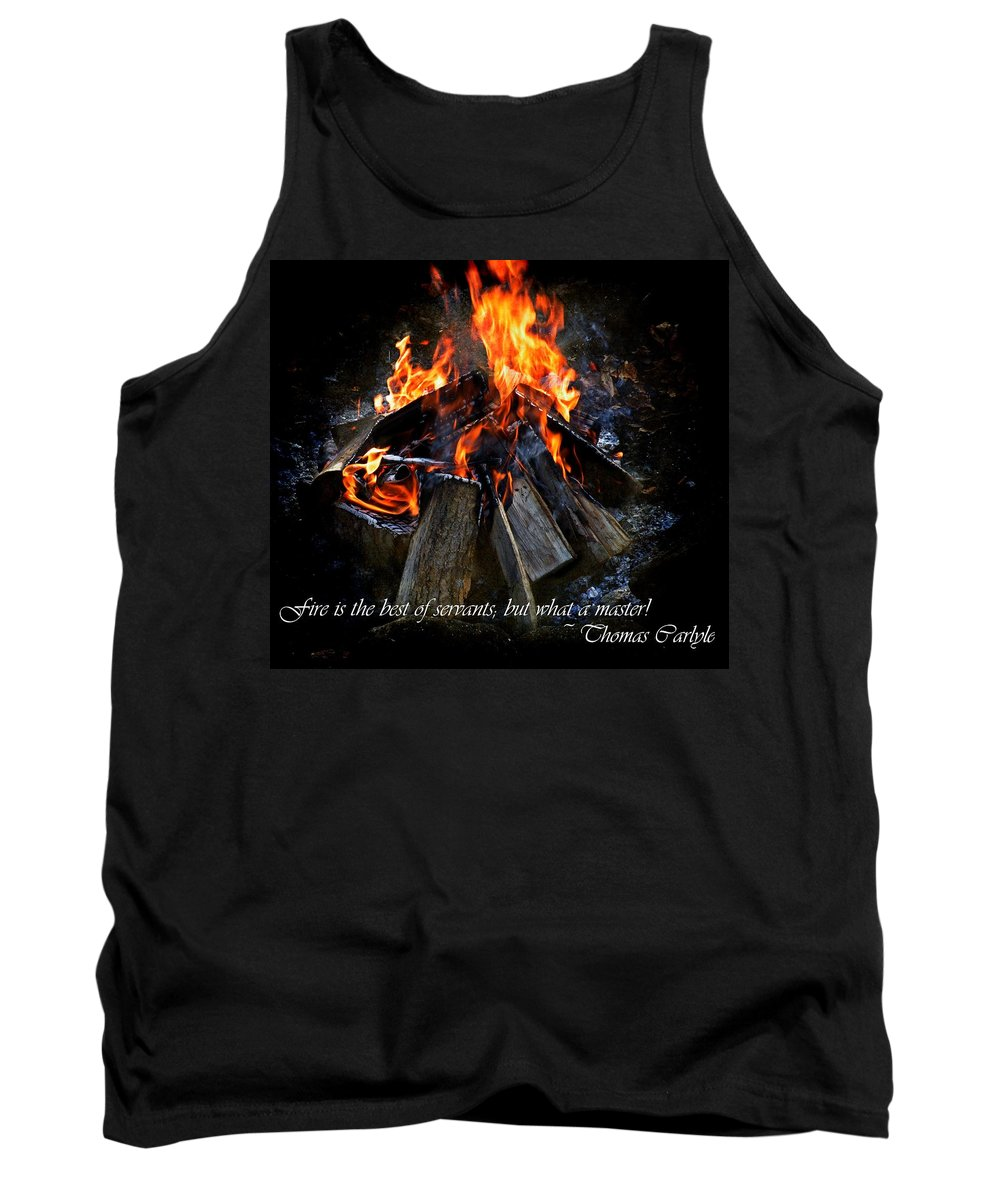 Fire Tank Top featuring the photograph The Fire by Davandra Cribbie