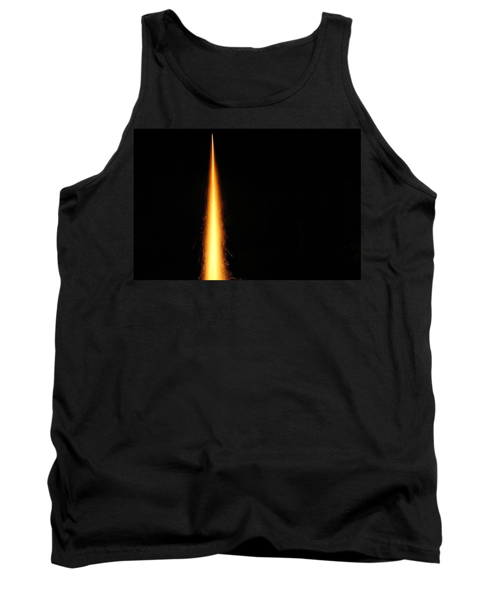 Diwali Tank Top featuring the photograph The Flames Of A Diwali Rocket by Ashish Agarwal